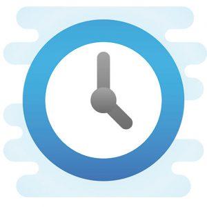 Symbol Uhr für Öffnungszeiten