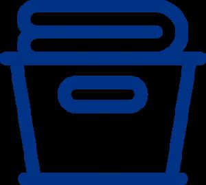Symbol Fachwäsche und Haushaltswäsche